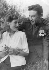 Родители. Михаил и Тамара. 1945