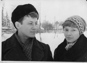 С женой Юлией . нач. 60-х гг